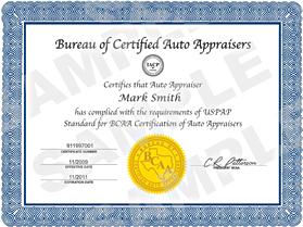 Bureau Of Certified Auto Appraisers Bocaa Become A Iacp